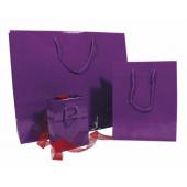 Glanzende violette draagtas