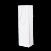 Mat witte papieren flessendraagtas