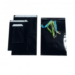 Pochettes noires brillantes