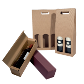 Flessenverpakking met microgroeven