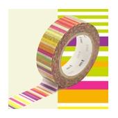 mt MASKING TAPE rayures multicolores