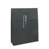 Pochettes sacs noires rondelles et ficelle