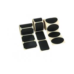 Etiquettes noir mat